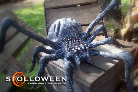 our 2007 halloween yard display featured two large anatomically incorrect spiders