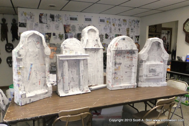 How to chunky tombstones stolloween for Papier mache decorations