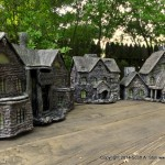 HAUNTED BUILDING MINIATURES (12)