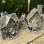 HAUNTED BUILDING MINIATURES (14)