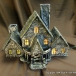 HAUNTED BUILDING MINIATURES (2)