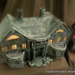 HAUNTED BUILDING MINIATURES (3)