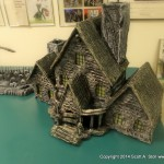 HAUNTED BUILDING MINIATURES (5)