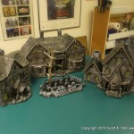 HAUNTED BUILDING MINIATURES (9)