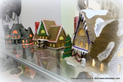 Polymer Clay Christmas Village.Christmas Village Workshop Stolloween